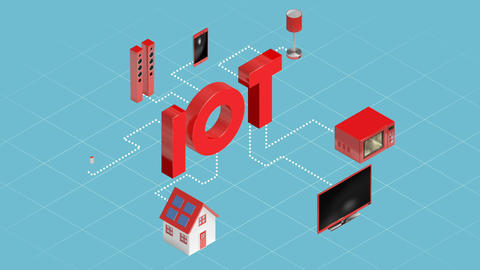 Home appliances connecting through internet of things Live Action
