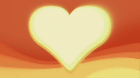 Abstract Heart Frame 1 CG動画素材