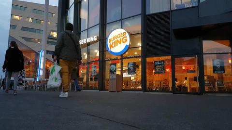 Burger King Restaurant Footage
