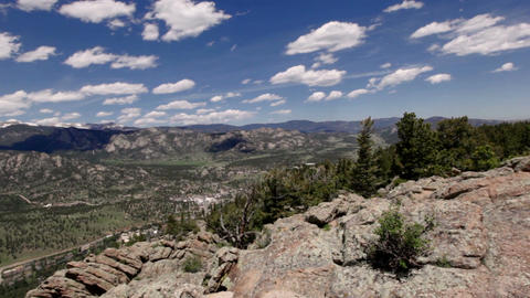 Panoramic view of Rocky mountains, Colorado, USA Footage