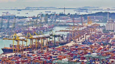 Timelapse of the port of Singapore, 4K Footage