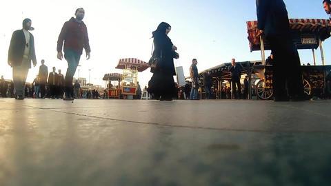 people walking in a crowded street, timelapse Footage