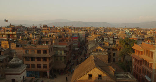 Bhaktapur Nepal, Sunset Filmmaterial