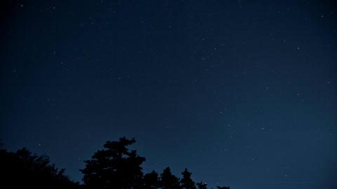 timelapse of night sky with many stars Image