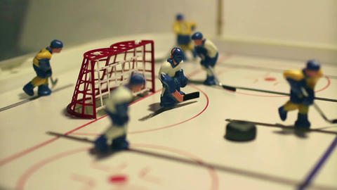 attack ice hockey table game Footage