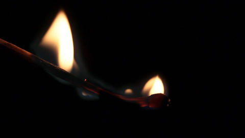 slow motion of burning matchstick Archivo