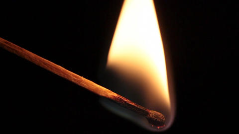 slow motion of burning matchstick Footage