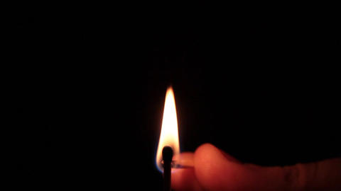 macro of burning matchstick Image