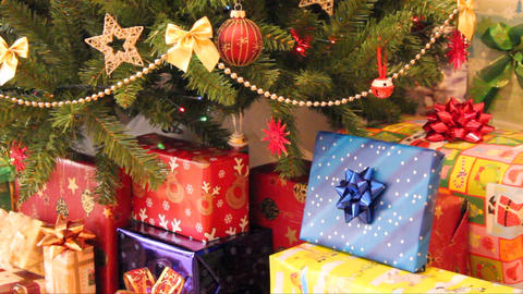 gifts and christmas tree Footage