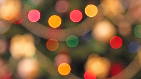 rack focus christmas lights background Footage