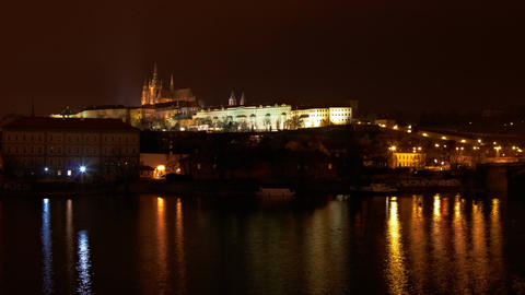 timelapse of Prague castle, Czech Republic Footage