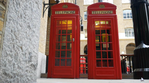 Red telephone box Footage