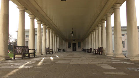 Benches in the old columns Footage
