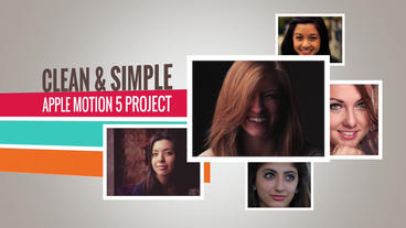Clean And Simple: Template for Apple Motion 5 and Final Cut Pro X Apple Motion Project