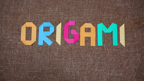 Origami stop motion animation Animation