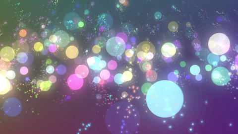 Rising colorful particles Animation