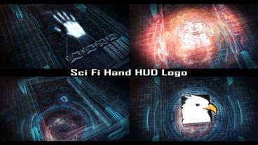 Sci Fi Hand HUD Logo Plantilla de After Effects