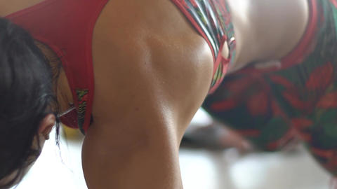 Fitness Women Working Out Slow Motion Footage