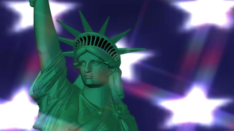 Digital Animation of the Statue of Liberty Animación