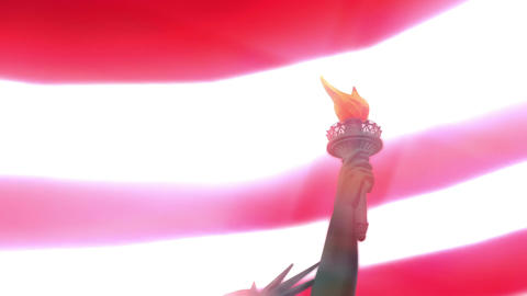 Digital Animation of the Statue of Liberty, Stock Animation