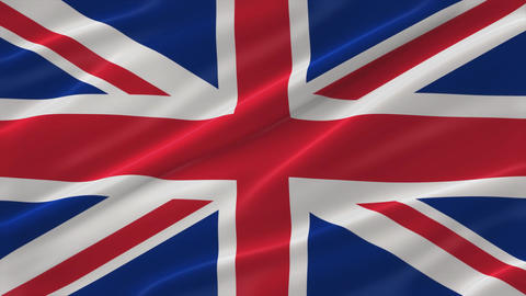 Flag of Great Britain 4K Animation