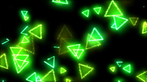 Drawing Triangle Shapes on Black Background Animation - Loop Rainbow Animation
