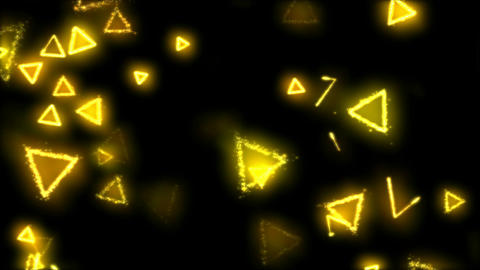 Drawing Triangle Shapes on Black Background Animation - Loop Yellow Animation