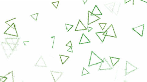 Drawing Triangle Shapes on White Background Animation - Loop Green Footage