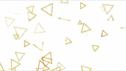 Drawing Triangle Shapes on White Background Animation - Loop Yellow Animation