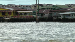 South Eeast Asia sultanate Brunei Bandar Seri Begawan water village Footage