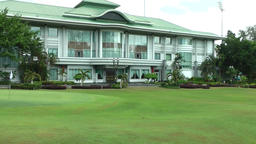 South Eeast Asia Brunei Bandar Seri Begawan main building and lawn in polo club Footage