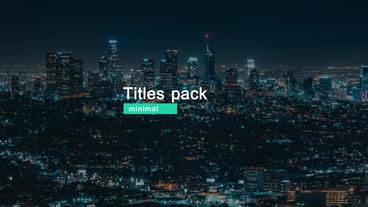 19 Minimal Titles cs6 After Effects Template