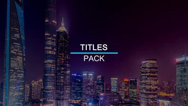 19 Minimal Titles cs6 After Effects Project