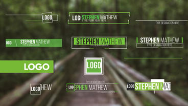 50 Modern Lower Thirds After Effects Template