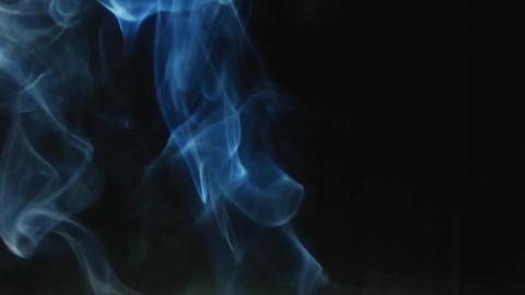 Smoke isolated black background Footage