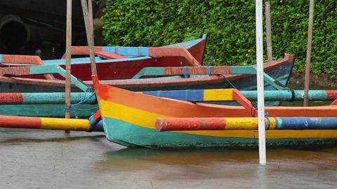 Bali boat in a rain Footage