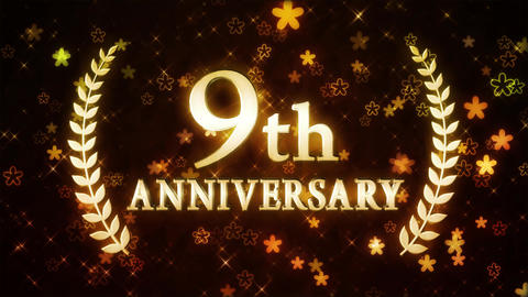 9th anniversary CG動画素材