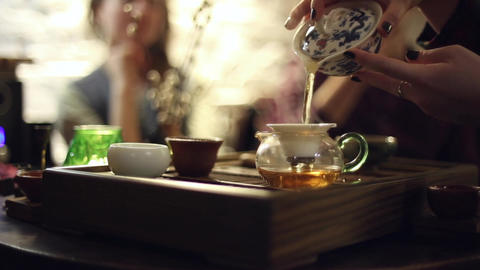 Tea ceremony in the cafe Live Action