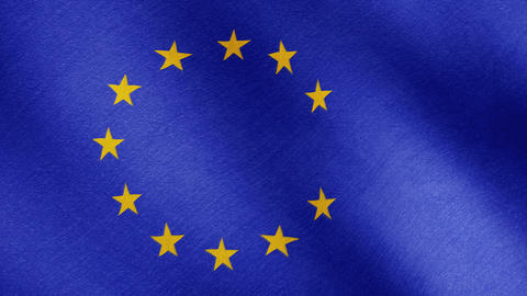 Brexit, the EU flag is a falling star Footage