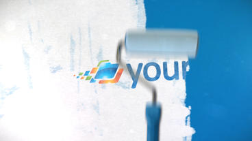 Paint Roller Logo - Apple Motion and Final Cut Pro X Template Apple Motionテンプレート