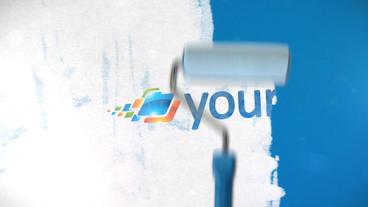 Paint Roller Logo - Apple Motion and Final Cut Pro X Template Plantilla de Apple Motion