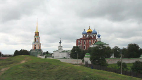 ancient Russian monastery time lapse Footage