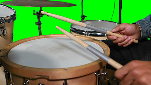 Hands on drummer playing drum Live Action
