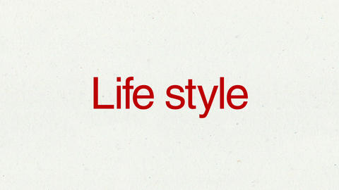 Text animation 'Life style' for topic introduction in Powerpoint presentations Animation
