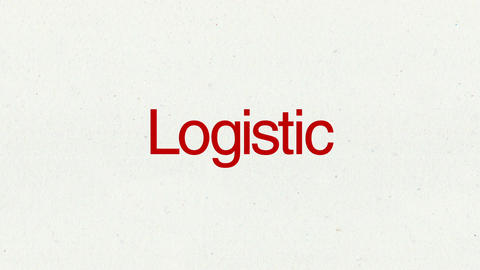 Text animation 'Logistic' for topic introduction in Powerpoint presentations Animation