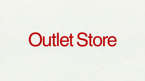 Text animation 'Outlet Store' for topic introduction in Powerpoint presentations Animation