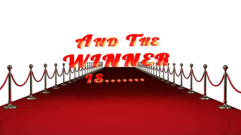 Red carpet with text and the winners are Live Action
