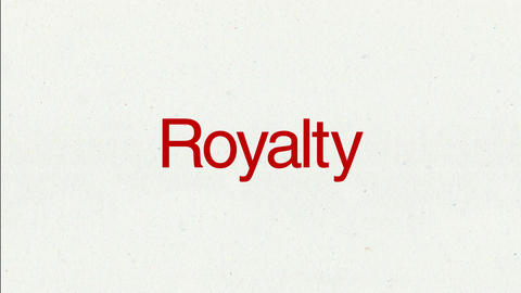 Text animation 'Royalty' for topic introduction in Powerpoint presentations Animation