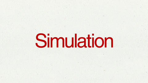 Text animation 'Simulation' for topic introduction in Powerpoint presentations Animation
