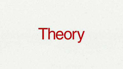 Text animation 'Theory' for topic introduction in Powerpoint presentations Animation